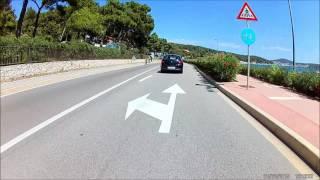 Motorradfahrt von Osor nach Čikat über den Hafen von Mali Lošinj