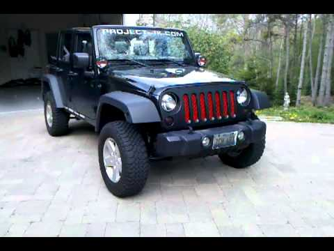 Jeep Jk Grill Inserts Jeep Wrangler Unlimited Painted Grill/Grill Mod - YouTube