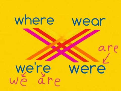where vs wear and we're vs were (homophone game ep6)