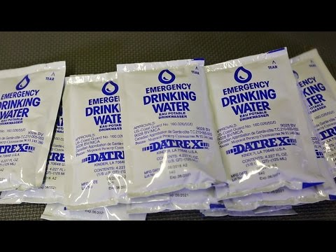 Emergency Water Bag Taste Test