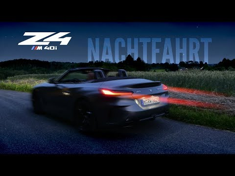BMW Z4 M40i Autobahn Nachtfahrt   83metoo