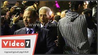 """عمرو موسى ومصطفى بكرى و الفقى يشاركون فى عزاء """"هيكل"""""""