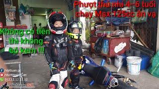 Phượt thủ nhí 4 và 6 tuổi lái siêu xe côn tay MSX 125cc ăn vạ khi hết tiền !!! Kỹ Sư Hẻm