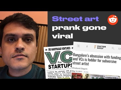 VC for Startups prank in Bangalore (with responses)