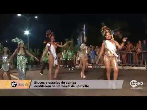 Blocos e escolas de samba desfilam no Carnaval de Joinville