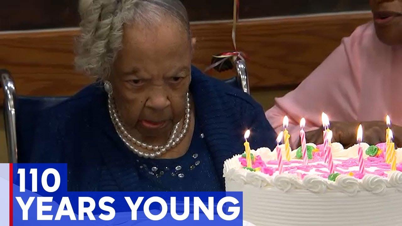 110 yr Old Black Lady Celebrates Life