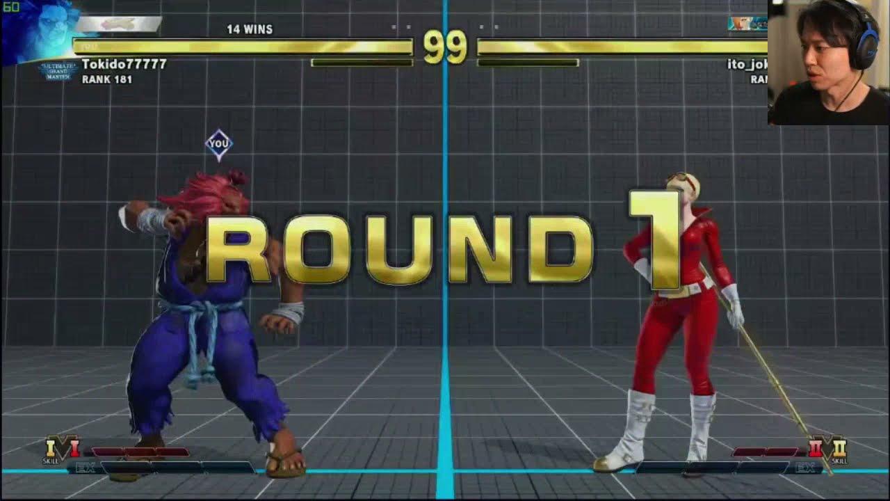 TOKIDO plays Akuma again | SFVCE Ranked Match