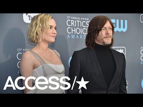 Diane Kruger & Norman Reedus Share Cute PDA At 2018 Critics' Choice Awards