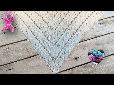Châle tricot triangles facile
