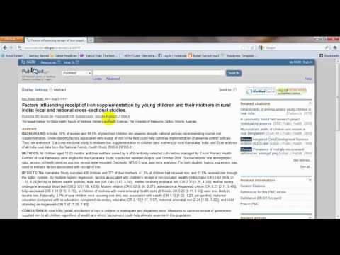 How to do Search articles in Pubmed Central