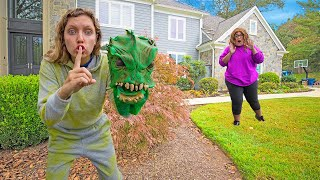 I am the Pond Monster!!! (UNDERCOVER for 24 Hours to Interview Mystery Neighbor Ellen)