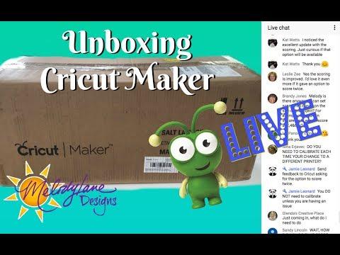 Cricut Maker Unboxing LIVE