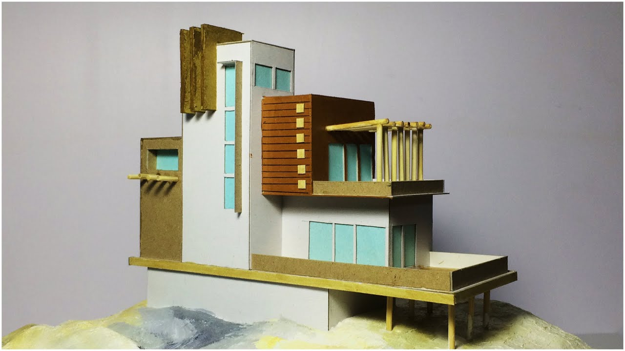 Model making of modern architectural building 2 youtube for Build a modern home for 200k