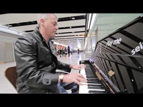 The Best Boogie Woogie Piano at Heathrow Airport