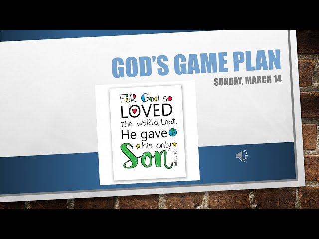 Gods Game Plan March 14