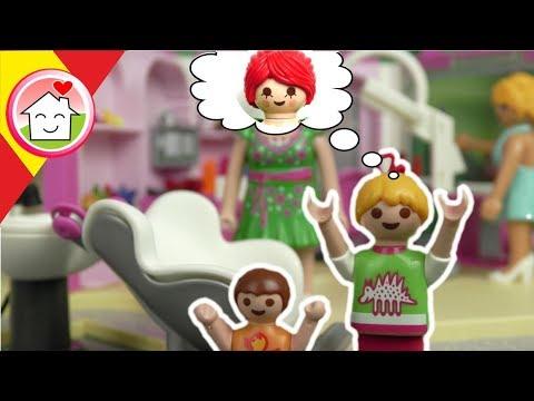 Playmobil en español La familia Hauser en la peluquería