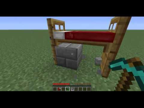 Como fazer uma cama beliche 2 andares no minecraft youtube for Cama minecraft