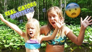 WE TRY TO SURVIVE LILY PAD ISLAND! WILL WE MAKE IT HOME?