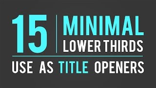 15  Lower Thirds Template | After Effects |  Free Download |