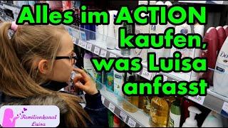 Alles kaufen was Luisa anfasst beim ACTION!!!