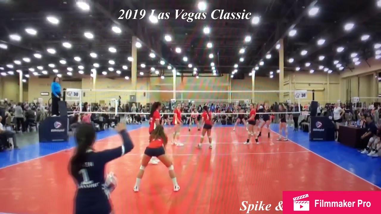Sydney Sniffen #1 L/DS 2019 Las Vegas Classic Tournament Spike & Serve 18's  Blue C/O 2023 8th Gr