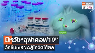"""มีหวัง""""จุฬาคอฟ19"""" วัคซีนmRNAสู้โควิดได้ผล   TNN ข่าวค่ำ"""