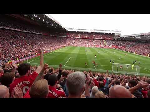 Romelu Lukaku debut goal vs West Ham (Live fan view from Stretford End 13.8.2017)