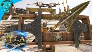 ATLAS - Big Game Hunting - Absolutely Destroying Whales and Dragon Bosses from our SHIP! E45