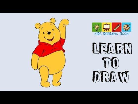 how to draw pooh bear