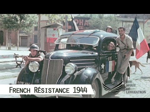 French Résistance in 1944 (in color and HD)