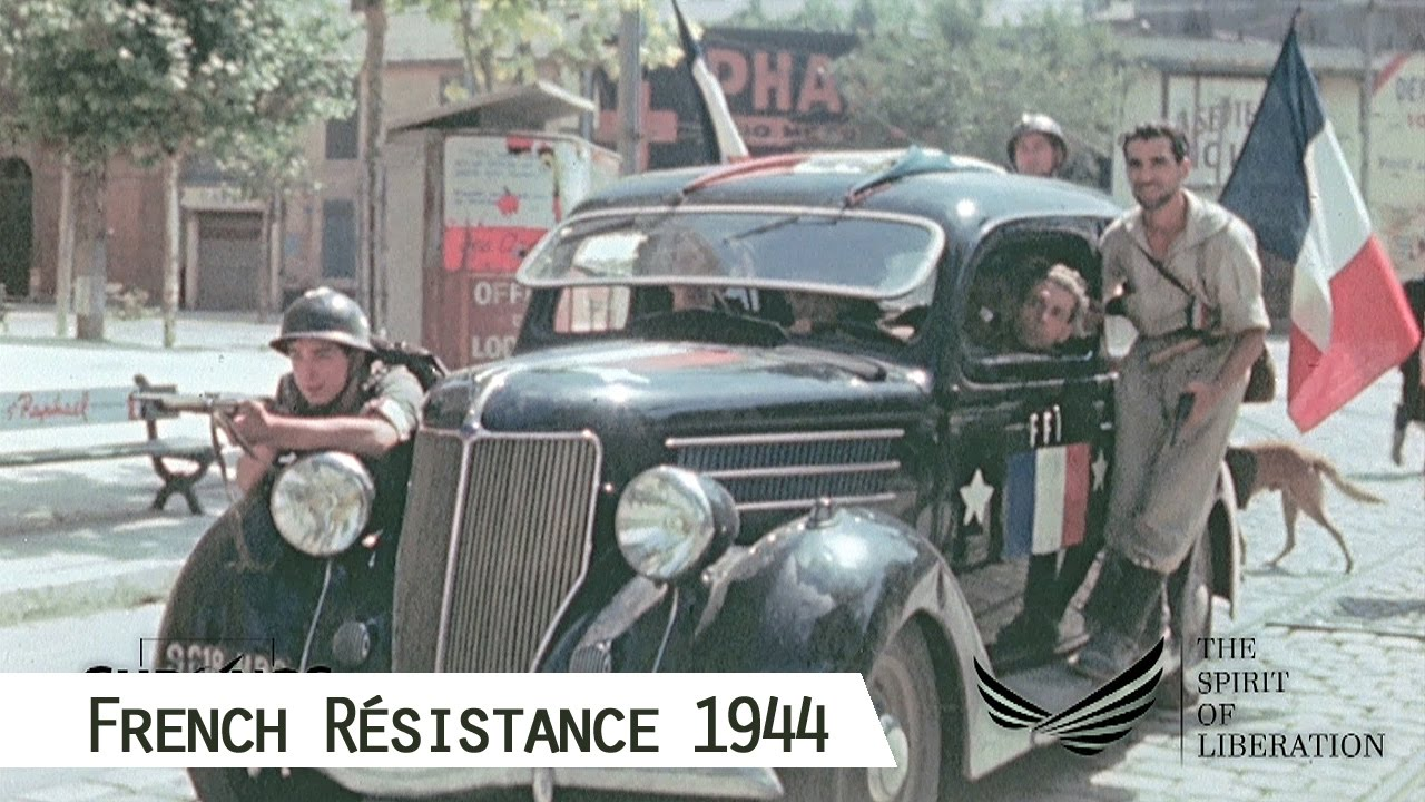 French Résistance in 1944 (in color and HD) - YouTube