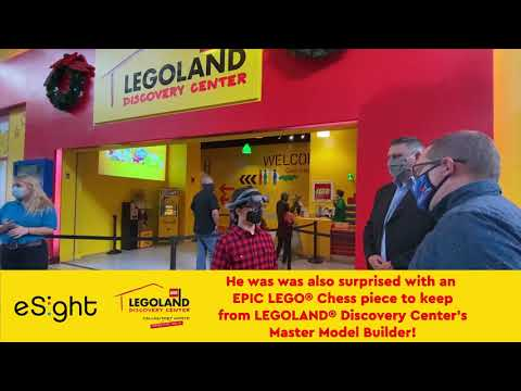 Big Surprise at SEA LIFE Grapevine and LEGOLAND Discovery Center Dallas/Fort Worth with eSight