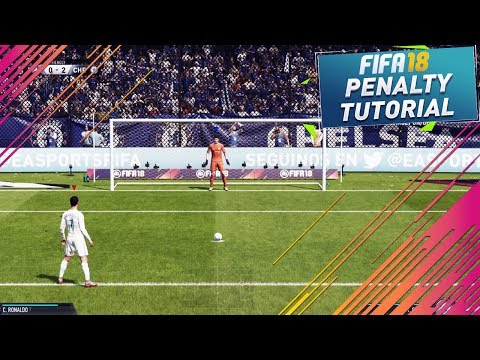 FIFA 18 PENALTY TUTORIAL / NEW SECRET PENALTY KICKS TRICK - HOW TO SCORE THE NEW PKs - TUTORIAL
