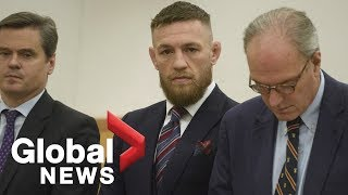 MMA fighter Conor McGregor back in court, says he regrets brawl