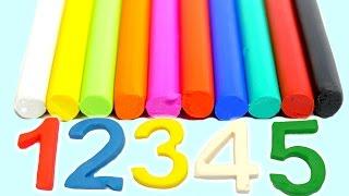 Play-Doh Knete - Englische Farben und Zahlen Lernen für Kinder