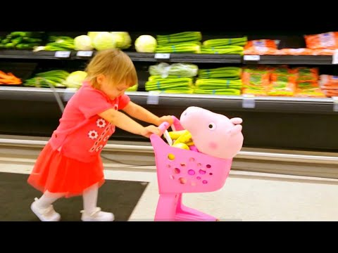Thumbnail: This Little Piggy Went To Market Peppa Pig Kids Songs | Nursery Rhymes for Children | Supermarket