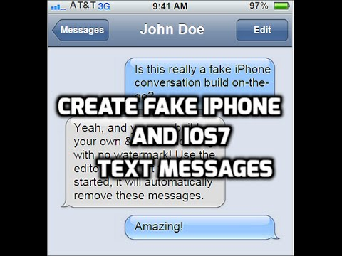 fake iphone text ios 7