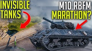 Invisible Tanks • French M10 Wolverine Marathon? ► World of Tanks M10 RBFM
