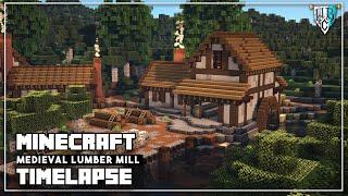 minecraft mill lumber medieval build