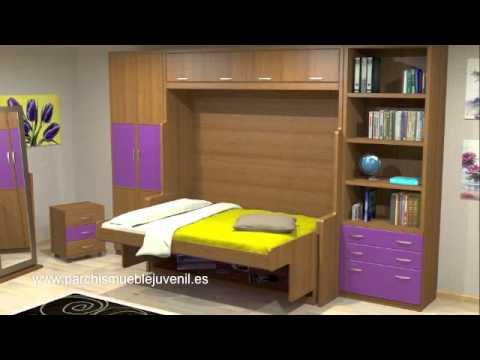 Cama mesa literas convertibles litera con escritorio camas abatibles muebles juveniles youtube - Muebles shena literas ...