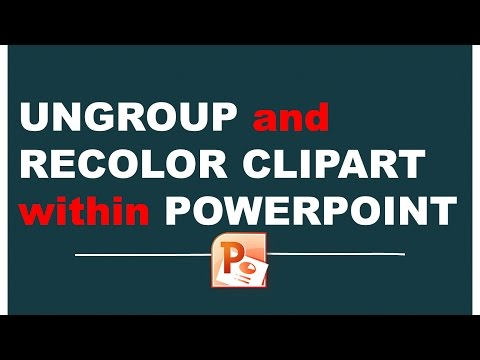 Ungroup And Recolor Clipart Within PowerPoint