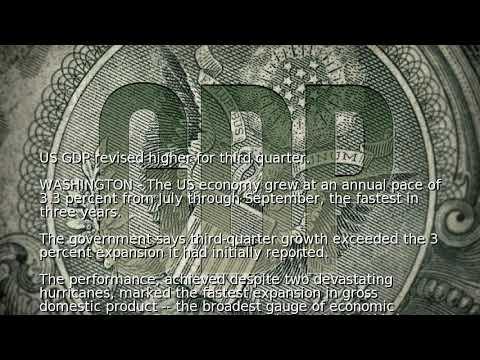 US GDP revised higher for third quarter