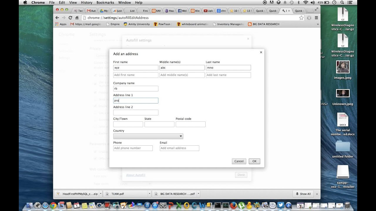 Fill Forms automatically using chrome browser with Autofill - YouTube