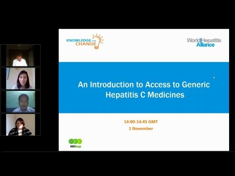 Knowledge for Change: An Introduction to Access to Generic Hepatitis C Medicines