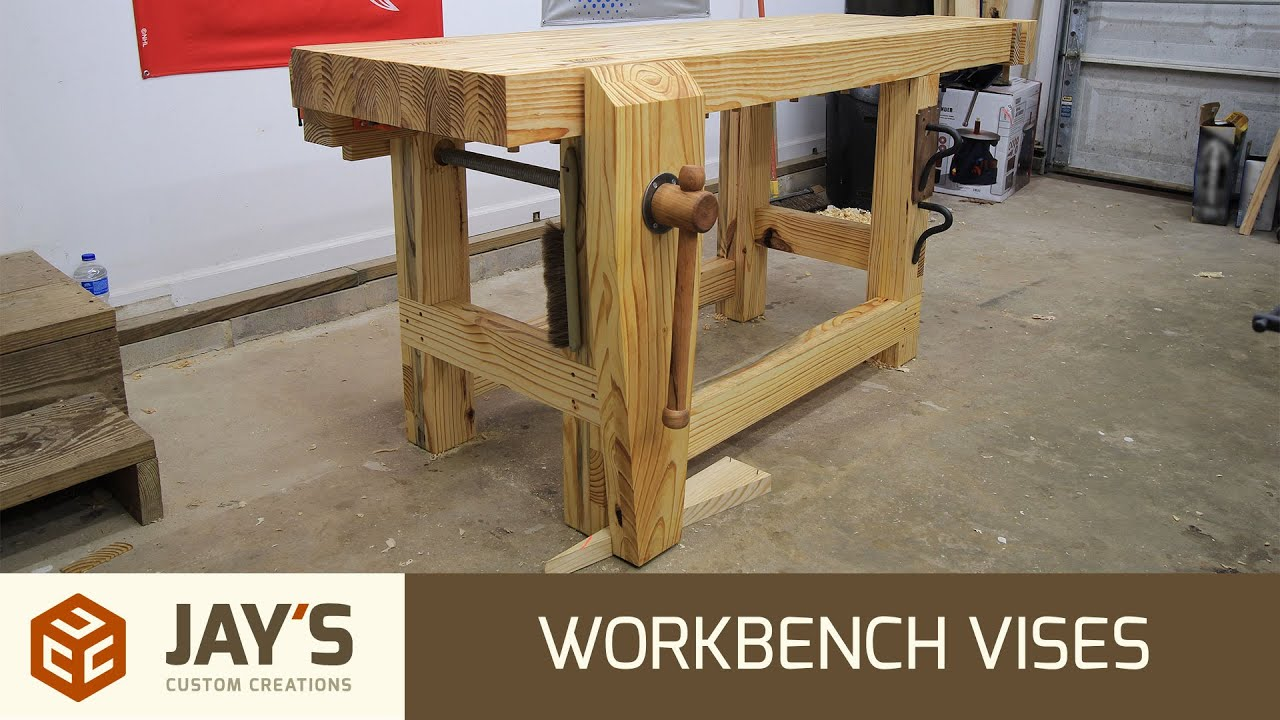 of workbench clamps front two and either side heavy piece vise edge without small against butt right wood duty to your making mount how sure on drilling use but a the in bench vertical holes install just
