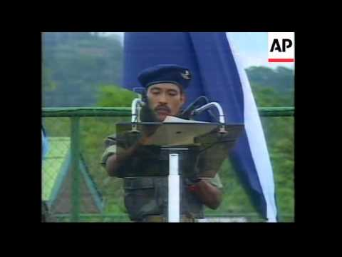 NICARAGUA: GROUP OF 387 REBELS SURRENDER WEAPONS TO AUTHORITIES
