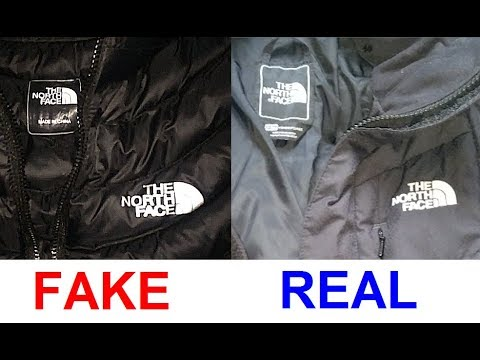 Real Vs  Fake North Face Jacket  How To Spot Counterfeit North
