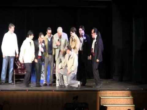 Barry Bostwick surprised by Brad Majors reenactors declares