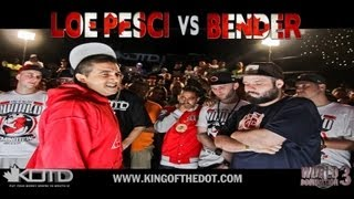 KOTD - Rap Battle - Loe Pesci vs Bender | #WD3
