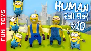 Human Fall Flat #10 - Os MINIONS do Meu Malvado Favorito, passando MAIS uma fase EXTRA do jogo!!! 😂